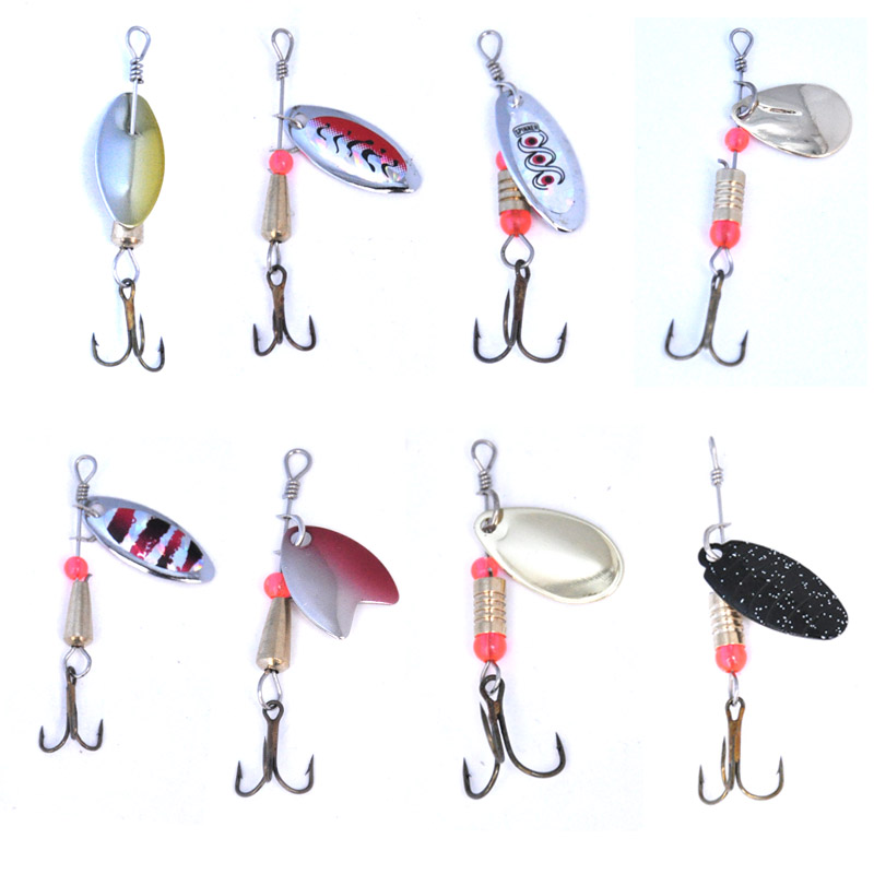 Image 5 - OLOEY soft bait Fishing Spoon Lures Spinner Spoon Bait Fishing  Spoons Metal Lure Rotating  Pesca Peche Treble Tackle-in Fishing Lures from Sports & Entertainment