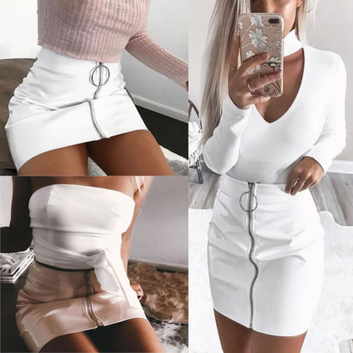 Fashion Women's Ladies Casual High Waist A-Line Bodycon Pencil Mini Short Skirt Women Lady Solid Brief Skirts