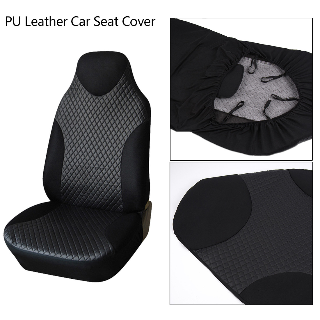 Dewtreetali PU Leather Front Car Seat Cover Universal Car Seat Protector For Auto Seat Covers Interior Accessories Car Styling