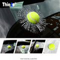 Tennis 3D Car Stickers Ball Hits Car Body Window Sticker for Volkswagen VW  T5 Tiguan Bora Scirocco