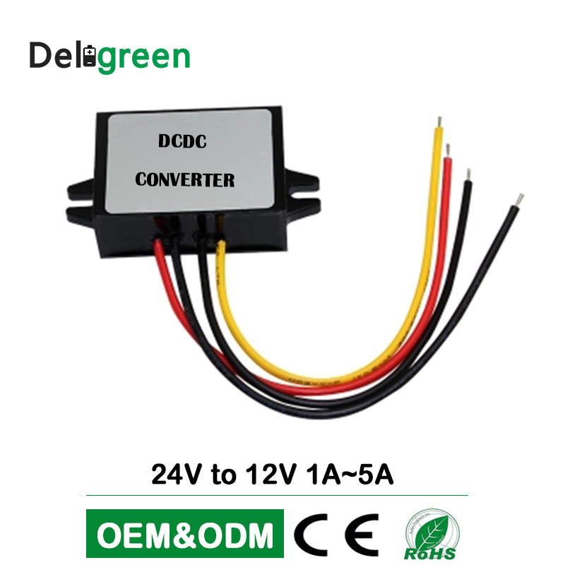 DC DC Converter <font><b>24V</b></font> <font><b>to</b></font> <font><b>12V</b></font> 5A 8A 10A 12A 15A 20A 25A 30A <font><b>40A</b></font> 50A 60A wide input RegulatorCar Step Down converter power supply image