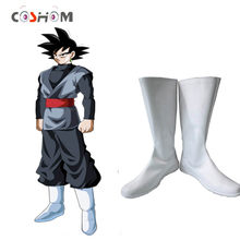 Coshome dragon ball super goku preto cosplay sapatos botas super saiyan botas brancas anime sapatos femininos para a primavera(China)