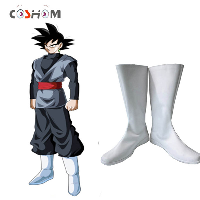 Coshome Dragon Ball Super Goku Black Cosplay Shoes Boots Super Saiyan White  Boots Anime Men Women Shoes For Spring bad43b6d25