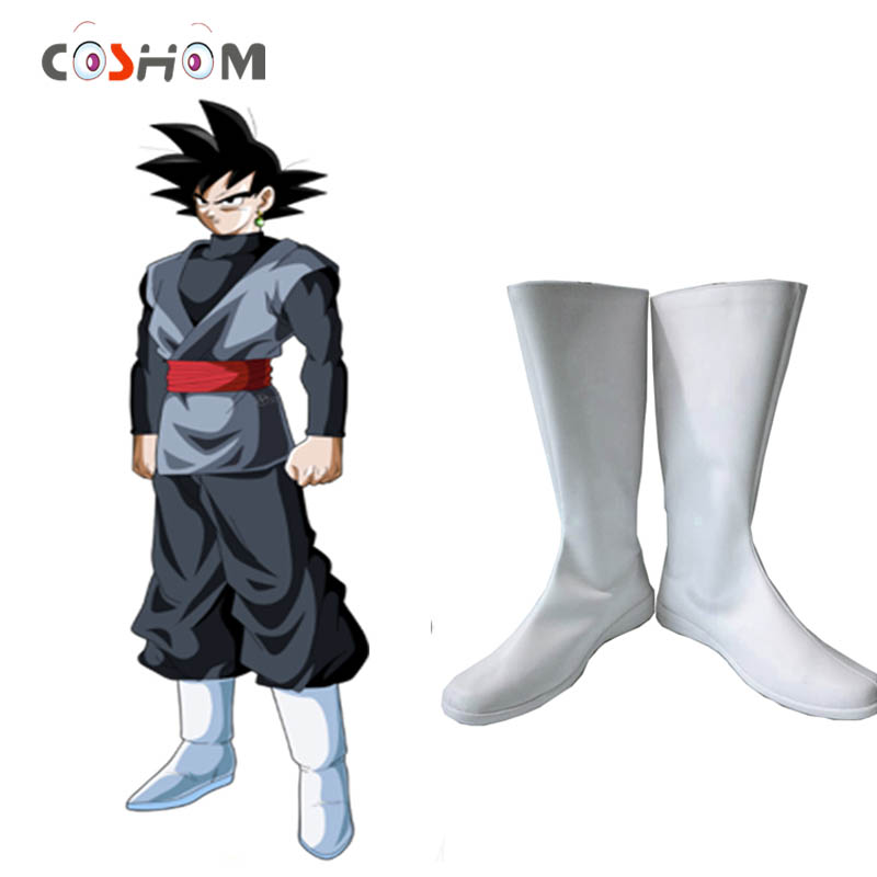 Coshome Dragon Ball Super Goku Black Cosplay Shoes Boots Super Saiyan White Boots Anime  ...