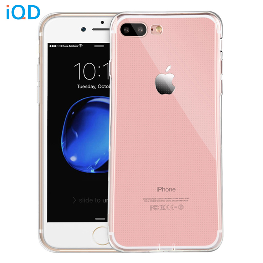 IQD para iPhone X 8 7 Plus Estuches Delgado Transparente Suave Gel flexible TPU Piel transparente Funda protectora resistente a los arañazos para iPhone 6 6s Plus