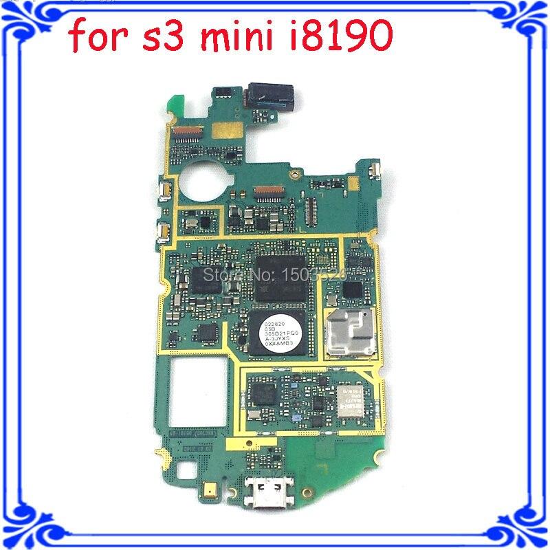 imágenes para El envío libre abrió placa base placa base placa base para samsung S3 mini I8190 original con chips versión Europea