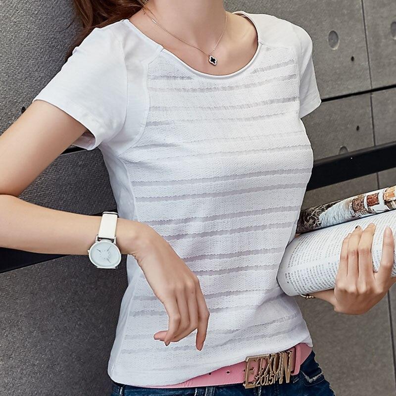 Poleras De Mujer Pink T Shirt Women Summer 2017 Tops Short Sleeve T-Shirt Korean Plus Size Womens Clothing 3xl Tee Shirt Femme