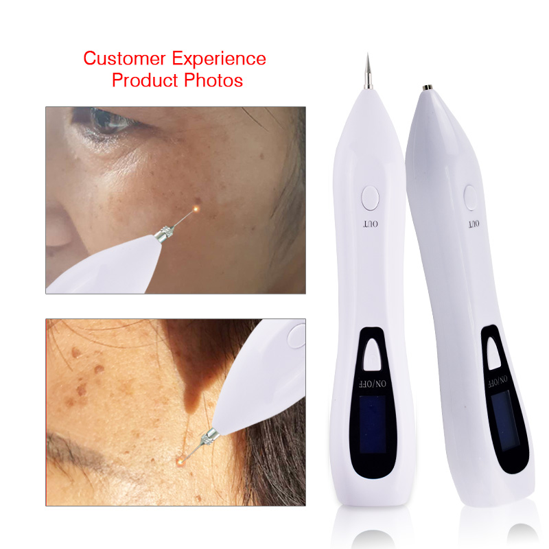 6 Level Laser Skin Spot Mole Remover Machine LCD Face Freckle Tattoo Removal Plasma Pen Wart Remover Tool Beauty Care Device 2 pcs laser freckle removal machine skin mole removal dark spot remover for face wart remaval pen salon home beauty care tool