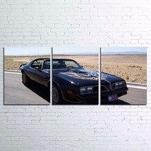 Модульная холст HD печатные плакаты Home Decor Wall Art комплект из 3 предметов Смоки и бандит фильм черный спортивный автомобиль фотографии