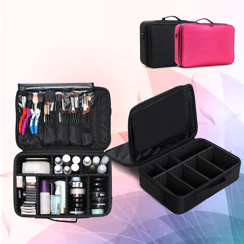 Professional Multifunctional Hand Tools Boxes Makeup Organizer Tool Bag Portable Storage Bag Beauty Cosmetic Toolbox