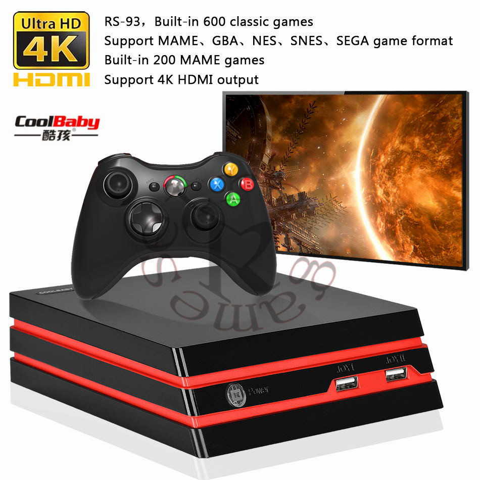 2018 Newest Video Game Console 64 Bit HDMI/AV output Support 4K Output Retro Classic built-in 600 games for Family Video console
