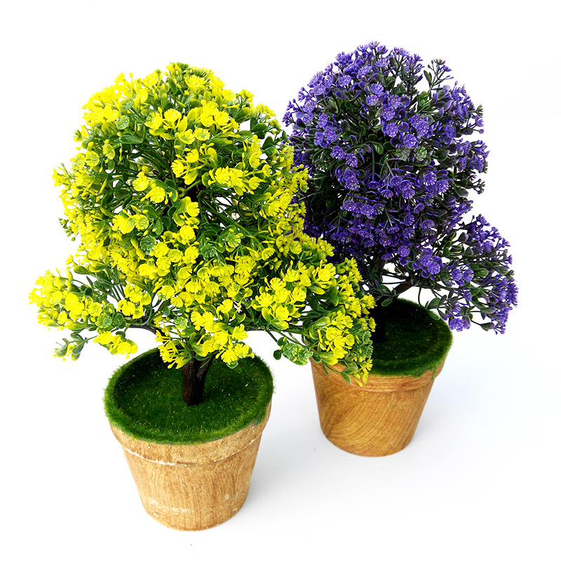 Artificial Plants Creative Simulation Plants Artificial Flowers Potted  Plants Bonsai Living Room Furnishings(China)