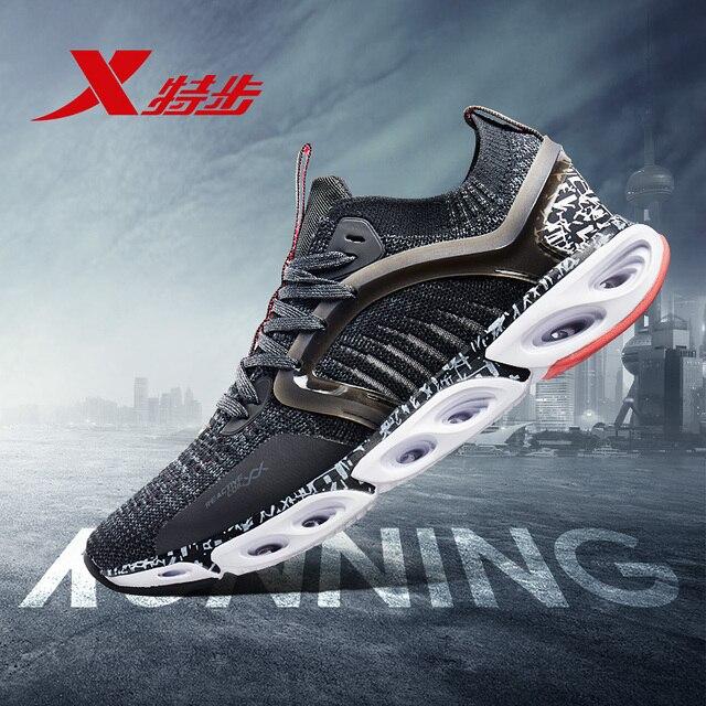 981219110216 Qingfeng XTEP дышащая Спортивная обувь для мужчин легкие сетчатые кроссовки Спортивная Мужская Спортивные кроссовки обувь