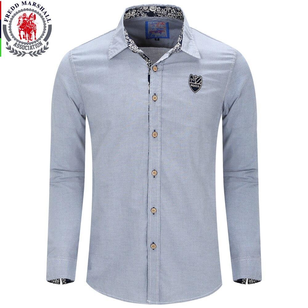 New arrived brand men 39 s casual shirt long sleeve dress for European mens dress shirts
