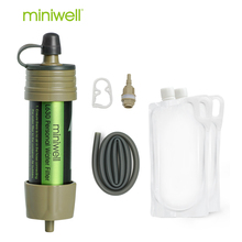 miniwell camping water filter designed for camping,travel,hiking,emergency