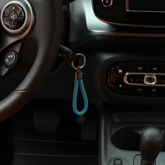 Car Keychain Hand Woven Car Logo Key Chain Key Ring Car Key Ring