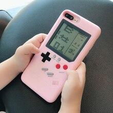 Tetris игровой автомат подростковый чехол для телефона с сердцем Чехол для мобильного телефона для iPhone 6 S 7 8 plus X S Черный Ретро игровая консоль чехол для телефона