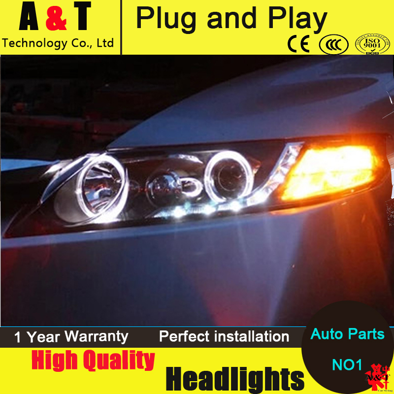 Auto Lighting Style LED Head Lamp for Honda Civic headlights 2007-2011 Civic LED angle eyes drl H7 hid  Bi-Xenon Lens low beam auto clud style led head lamp for benz w163 ml320 ml280 ml350 ml430 led headlights signal led drl hid bi xenon lens low beam