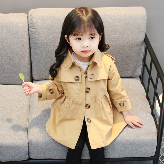 efe24e2613e1 Trench Coats for Girls Baby Girl Clothes Little Girl Cotton ...