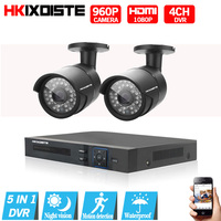 HD 4CH CCTV System 1080P HDMI DVR 2PCS 960P 2500TVL CCTV IR Indoor Outdoor Video
