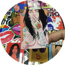 50pcs Sexy Girls Sticker Pack for Adault Graffiti Anime LGBT Funny Car Stickers on Bike Motorcycle Suitcase Phone Laptop Voiture(China)