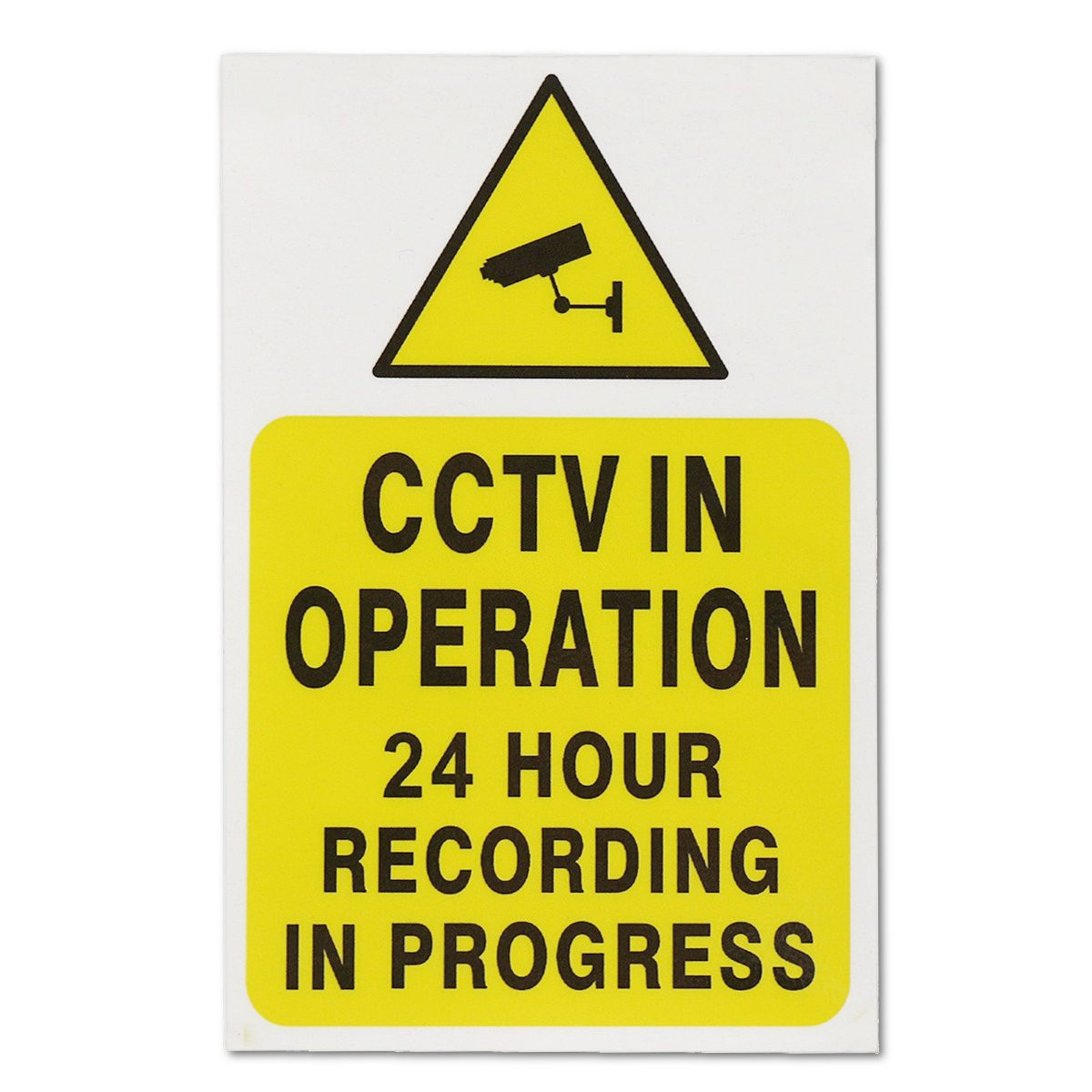CCTV IN OPERATION 24 HOURS RECORDING IN PROGRESS Window Camera Warning Sticker Safty Sign Self-adhensive Safety Security Decal