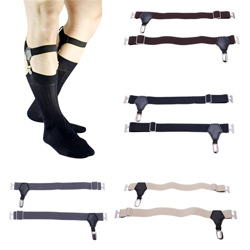 Harajuku Gothic Garters Stockings Belt Lingerie Adjustable Men's Sock Garter Belt Grips Suspender With Metal Clips Accessories