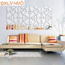 3D Acrylic Mirror Wall Sticker Combination DIY Creative Home Bedroom Living Room Decorative