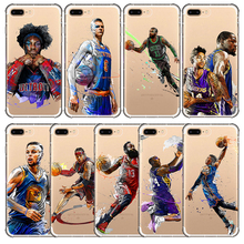 Basketball Phone Case Russell Westbrook Curry Harden James Kobe Soft Phone Shell Bag Cover for iphone