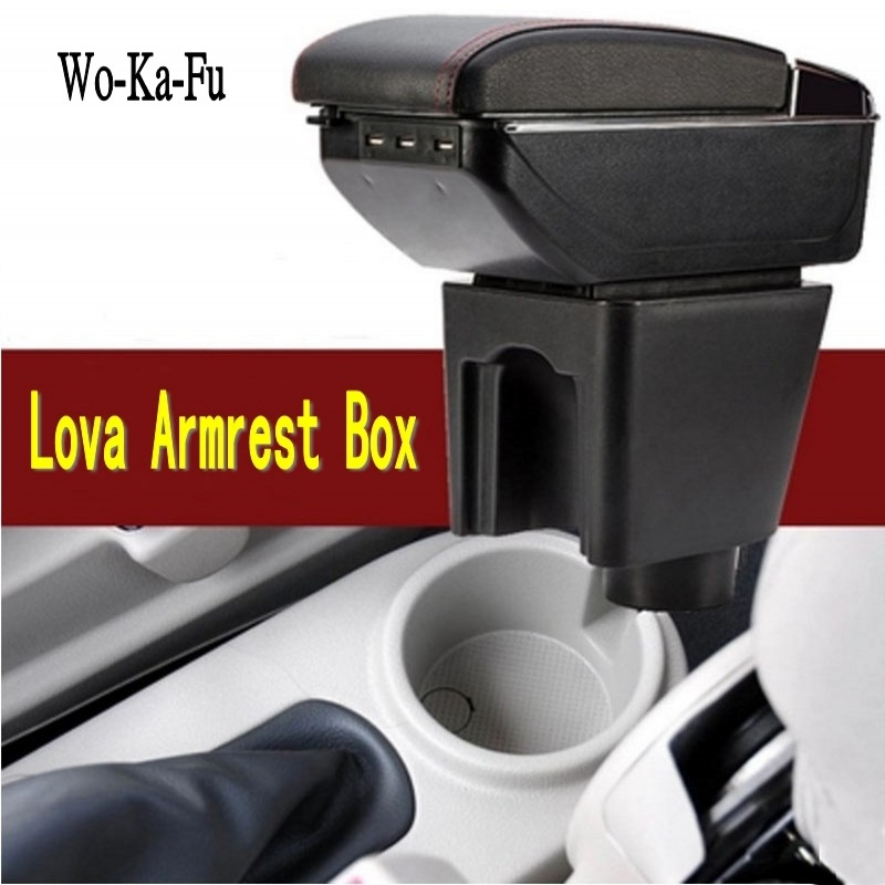For Chevrolet LOVA armrest box central Store content Storage Chevrolet aveo armrest box with cup holder ashtray USB interface universal leather car armrest central store content storage box with cup holder center console armrests free shipping