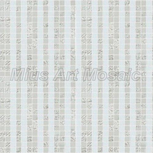 [Mius Art Mosaic] Silver mix color Custom glass art mosaic puzzle wall decoration 053 art silver art silver ar004dujjz59