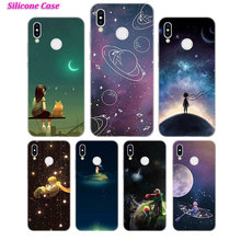 Silicone Case Little princess girl for Huawei Nova 3 4 Honor 7C 7A 8 8X 9 10 Y5 Y6 Y7 Y9 V20 Lite Pro 2019 2018 Cover