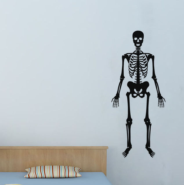 Dsu removable wall sticker skeletons skeleton home decor vinyl art wall decal boys room living room