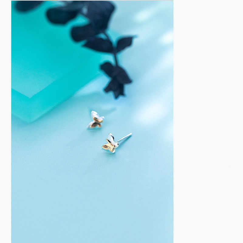 INZATT 2018 prawdziwe 925 srebro GoldColor Butterfly stadniny kolczyki dla kobiet Birthday Party Fine Jewelry Classic Bijoux prezent