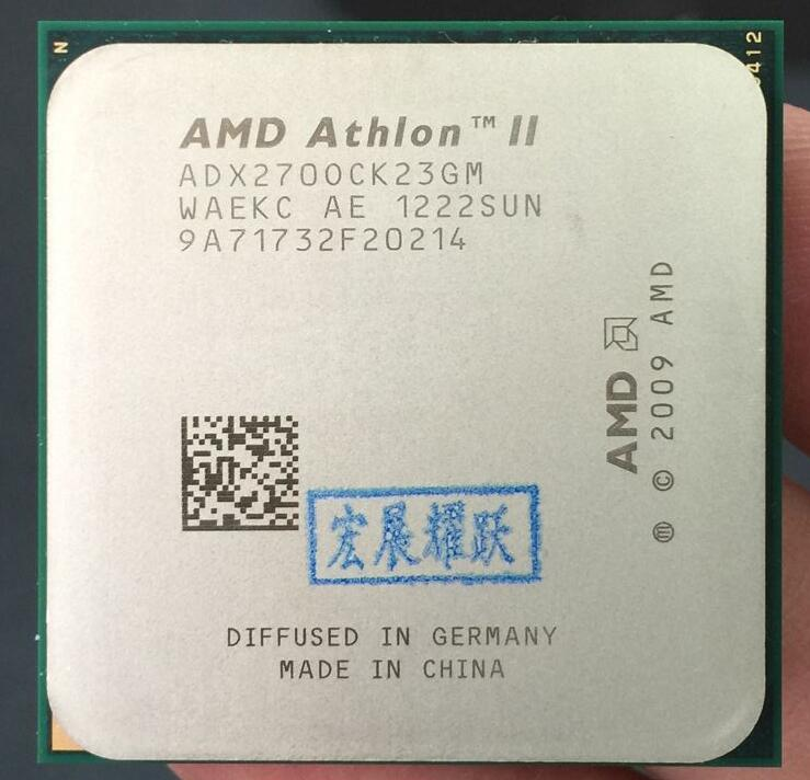 AMD Athlon II X2 270  X270  Dual-Core Desktop CPU AM3 938 CPU 100% Working Properly Desktop Processor