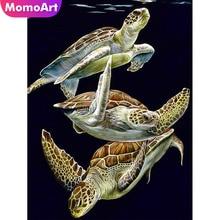 MomoArt Diamond Painting Tortoise Embroidery Full Square Rhinestone Mosaic Animal Home Decoration
