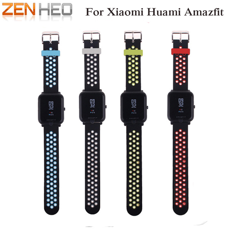 ZENHEO Soft Silicone Watch band Wrist strap For Xiaomi Huami Amazfit Bip Youth smart Fitness Watch watchband replacment bracelet cool magic sticker canvas strap wrist band for huami amazfit bip youth watch fitness tracker fitness braceletdrop shopping