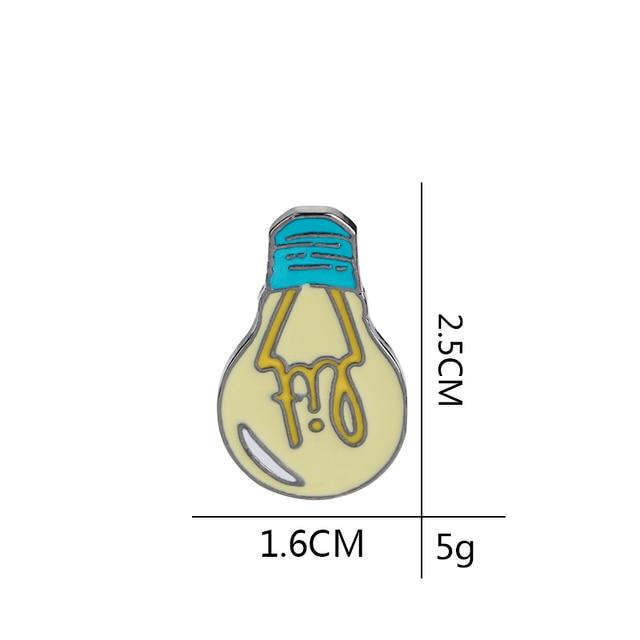 Мультяшные эмалевые броши булавки лампочки джинсовые лацканы