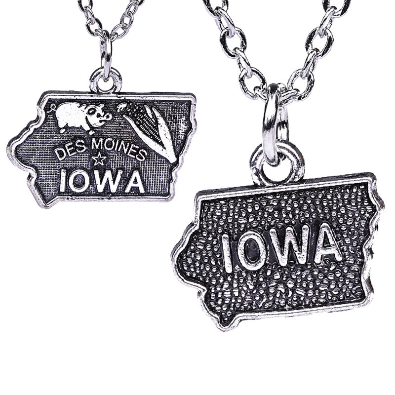 Skyrim Vintage Jewelry Necklace Geography Pendant Mixed California Charm Necklaces Antique Silver Plated Metal Crafts Gifts(China)