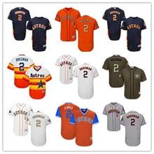 fba2dd42e Men s Houston Astros  2 Alex Bregman 2018 Gold Program Orange