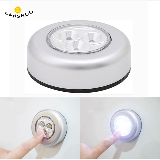 Mini 3LEDS 3 AAA Battery Powered Night Light Closet Light On Anytime For  Closets Cabinets