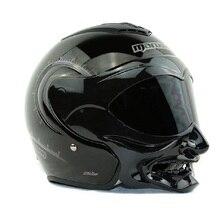 Nova personalidade moda Marushine capacete da motocicleta Meio capacete Marushin C609 careta estilo guerreiro capacete Aberto da cara do capacete de corrida