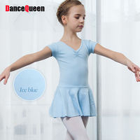 New Style Ballet Tutu Dance Dresses For Girls Cotton Long Short Sleeve Skirts Young Female Student