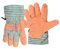 Forro de invierno cálido perfecto para mecánica soldadura jardinería conducción guantes de seguridad de cuero 2 pares de guantes de trabajo de cuero de grano de cerdo