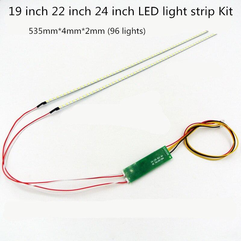 5 pz 19-24 pollice led strip kit, universale regolabile luminosità. distribuzione piastra di flusso costante 5
