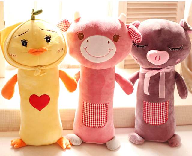 Candice Guo Plush Toy Stuffed Doll Funny Duck Cow Rabbit Pig Funny