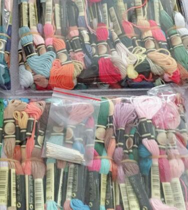 4TH JCS   Similar DMC Cxc Thread 1 Lot=447 Skeins Your Color Cross Stitch Thread Floss Worldwide, Cross Stitch Sets.