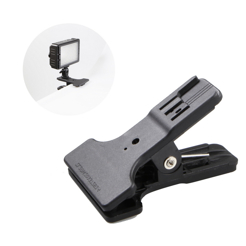 Photographic Clamp Clip With Hotshoe Mount Table Mini Stand Holder For Flash Speedlite Background Photographic Ligting