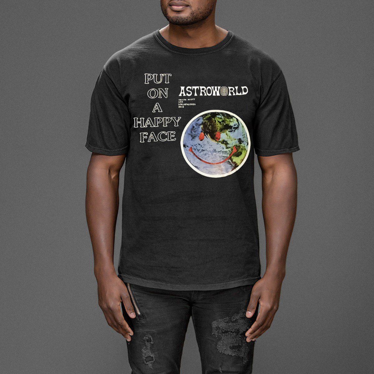 3588e82a315c Summer Top t shirt men As Worn By Kanye West Travisscott Astroworld  Lollapoloza 2019 New T