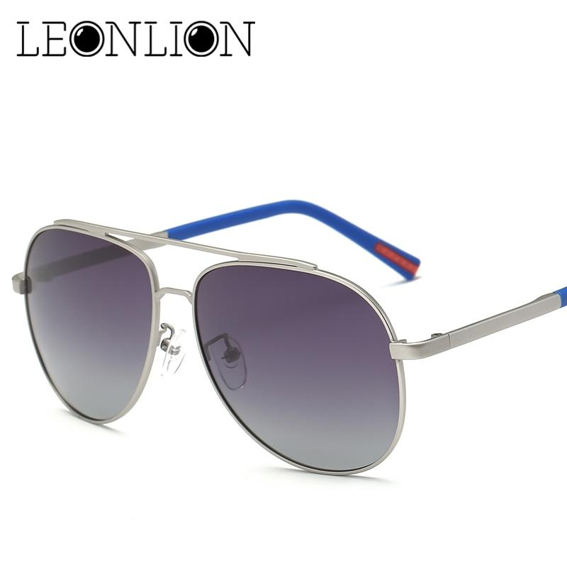 LeonLion Top Brand Designer Sunglasses Men Women Alloy Polarized Mirror Driving Fishing Glasses Men Classic Retro Goggle UV400